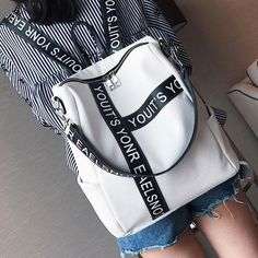 Unique Letters Black White Contrast Color Girl's Square Large Multi-fu – FoWish.com Backpacks For Teens School, Backpack For Teens, College Backpacks, High School Bags, Cute School Bags, Lace Backpack, Striped Backpack, College Bags For Girls, Girls Bags