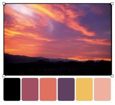 sunset palette