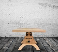 Plywood Hure table, built to order by Vintage Industrial in Phoenix...
