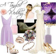 """A Tangled Wedding"" by reya-selene ❤ liked on Polyvore"