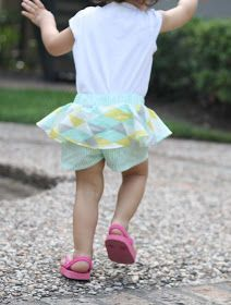 Small and Friendly featured my Peplum shorts on her top ten for Shorts on the Line! I did not originally plan to share a. Kids Clothes Patterns, Childrens Sewing Patterns, Sewing Kids Clothes, Sewing For Kids, Sewing Patterns Free, Baby Sewing, Free Sewing, Sewing Ideas, Clothing Patterns