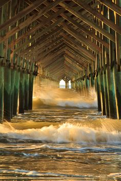 Under the Pier at Folly Beach, Charleston, South Carolina