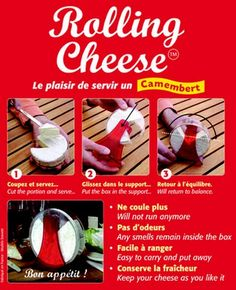 Enjoy your favourite runny French Camembert even more with the Rolling Cheese serving box.