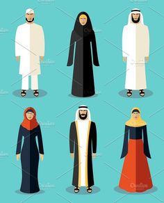 Archive c by Microvector Arab Girls, Muslim Girls, Muslim Women, Arabian Women, Female Cartoon Characters, Human Icon, Clothes Stand, Buch Design, Woman Standing