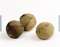 Three leather balls, second half of the 15th century