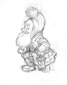 """HOLIDAY/SANTA Drawings  """"St. Nicholas in his Study"""" - Elf from """"St. Nicholas in his Study"""""""