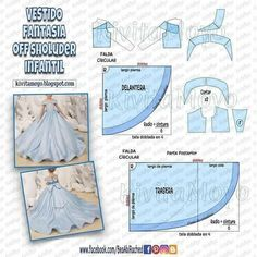 Barbie Clothes Patterns, Sewing Clothes, Clothing Patterns, Diy Clothes, Princess Dress Patterns, Wedding Dress Patterns, Girl Dress Patterns, Fashion Sewing, Diy Fashion