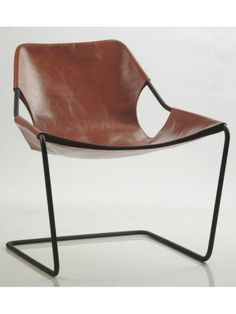 Cadeira Paulistano Armchair, designed by Paulo Mendes da Rocha. Modern Chairs, Modern Furniture, Home Furniture, Furniture Design, Leather Furniture, Scandinavian Furniture, Leather Chairs, Home Design, Design Ideas