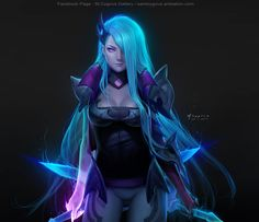 Fan Art : Death Sworn Katarina Skin League of Legends :D  ปล. สีผมเธอนี่ ยืนมองจากดาวอังคารยังเห็นอ่ะ #LeagueOfLegends #katarina #StCygnus #FanArt #lol