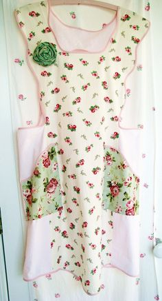 rachel ashwell hyde park FULL APRON roses handmade shabby chic vintage but NEW boutique. $42.95, via Etsy.