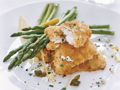 Chef Way This is Daniel Boulud's take on Wiener schnitzel, a breaded and fried veal cutlet. He lightens the dish by making it with thinly pounded monk