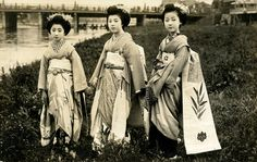 Maiko Momotaro and Friends by the River 1920s | Flickr - Photo Sharing!