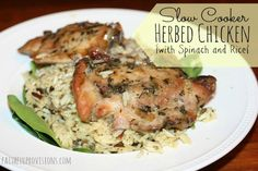 Slow Cooker Herb Chicken with Spinach
