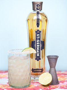 The St-Rita! A refreshing margarita made with St-Germain, tequila and lime juice!
