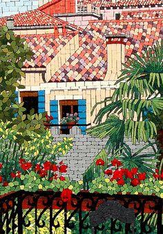 L'entrata Mosaic – jacqueline iskander 42″ x 32″ | orsoni smalti L'entrata, mosaic detail – jacqueline iskander 42″ x 32″ | orsoni smalti L'ent…