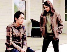 "The Walking Dead 5x16 ""Conquer"" Glenn Rhee and Maggie Greene"