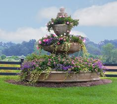 Fountain turned into lovely planter - France.