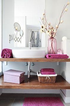 #bathroom  #radiantOrchid