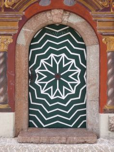 Door of the town hall in Ruhpolding, Bavaria, Germany.
