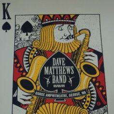 Dave Matthews Band - 2009 Methane Studios Poster George, WA Gorge Amph