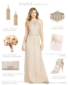 Beaded Bridesmaid Dress styling idea +  even more beaded dresses in this post!