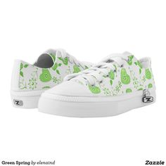 #Zazzle Green Spring Printed Shoes