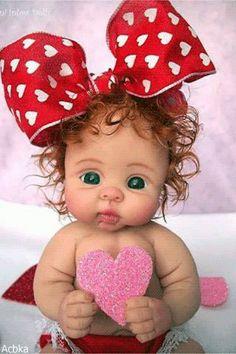 "❤ooak valentine baby girl ""sugar pie"" by: joni inlow* dolly-street❤ Cute Baby Dolls, Reborn Baby Dolls, Cute Babies, Tiny Dolls, Ooak Dolls, Baby Fairy, Clay Baby, Polymer Clay Dolls, Little Doll"