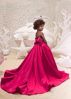 Fuchsia et noir Flower Girl Dress - anniversaire mariage Holiday Party demoiselle d'honneur fille fleur Fuchsia et noir Tulle robe de dentelle 21-062