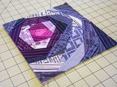"""Fabulous """"Bloomin' Quilt-As-You-Go Panel"""" tutorial by Cori George of Lets Eat Grandpa."""