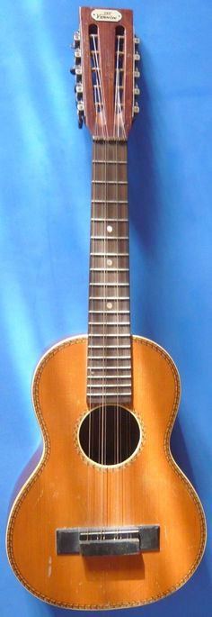lardyƒatboy:  Bruno's the Vernon Tiple Ukulele ==Ukulele of the day - 2 years ago --- https://www.pinterest.com/lardyfatboy