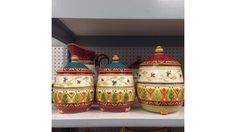 Keep your cookies safe in these stylish and unique cookie jars! Tuesday Morning, Cookie Jars, Craft Ideas, Cookies, Stylish, Kitchen, Unique, Crafts, Food