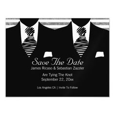 Mr and Mr Suit and Tie Gay Save The Date Invitations are available at Boardman Printing. order yours today! Lgbt Wedding, Wedding Men, Wedding Cards, Wedding Invitations, Wedding Ideas, Wedding Planning, Dream Wedding, Wedding Wall, Wedding Shit