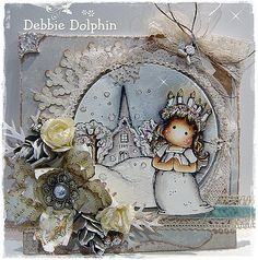 Another beautiful card by Debbie featuring Santa Lucia from the Nativity Collection by Magnolia