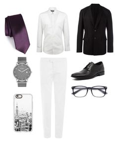 """black white purple"" by anoveir on Polyvore featuring Dolce&Gabbana, Etro, Julius Marlow, Skagen, Casetify, The Tie Bar, Givenchy, men's fashion and menswear"