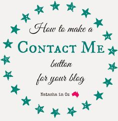 Say G'Day Saturday Linky Party {87} ~ Making a 'Contact Me' Button for Your Blog Tutorial