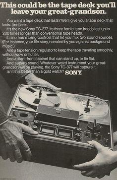 Sony TC-377, 1971.