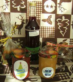Adventsmarmelade, Bratapfelmarmelade, gebrannte Amaretto Mandeln, weihnachtliche Schokomuffins und gewürzter Traubensirup