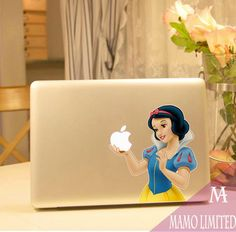 Snow White-Macbook Decals Macbook Stickers Mac Cover Macbook Skins Decal for Apple Laptop Macbook Pro Macbook Air Ipad decal Macbook Case