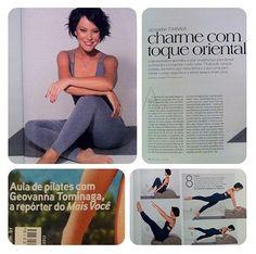 Geovanna Tominaga mostra a sua aula de Pilates na edição deste mês. Já nas bancas!