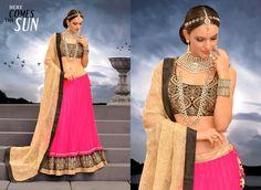 Tantalizing Pink Net Wedding Lehnga Choli    http://www.designersareesuite.com/catalog/product/view/id/20390/s/tantalizing-pink-net-wedding-lehnga-choli/category/54/#