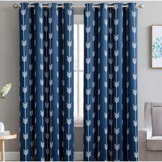 Clontarf Geometric Room Darkening Thermal Outdoor Grommet Curtain Panels & Reviews | AllModern