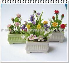 artificiales de arcilla en miniatura de la flor-Flores y guirnaldas decorativas-Identificación del producto:105330097-spanish.alibaba.com