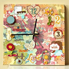 absolutely amazing clock tutorial over on the American Crafts blog.
