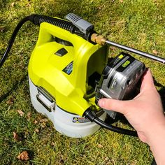 Instead of repeatedly pumping the chemical sprayer, this battery powered one from Ryobi Outdoor runs continuously! Garden Hose, Garden Beds, How To Clean Aluminum, Outdoor Projects, Outdoor Decor, Plastic Sheets, Small Gardens, Pumping, Woodworking Plans