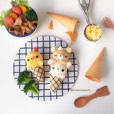 Rilakkuma Ice Cream Foodart♡