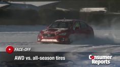 """ConsumerReports' video: """"All-wheel drive or good all-season tires: Which stops better in the snow?"""" These results just might surprise you! http://www.consumerreports.org/cro/video-hub/cars/safety/allwheel-drive-or-good-allseason-tires-which-stops-better-in-the-snow/17188412001/3261496213001/"""