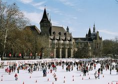 Visiting Budapest in winter? The capital of Hungary shines year round, but Budapest in winter is magical! From its Turkish bathhouses to its panoramic views, here are 10 things to do in Budapest in winter. Budapest Winter, Budapest City, Budapest Travel, Budapest Hungary, Ice Skating Places, Flying The Nest, Outdoor Ice Skating, Capital Of Hungary, Romania