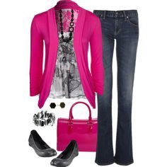 Pink & Gray by kp802 on Polyvore