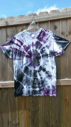 Tie Dye Shirt Black and Purple Tie Dye Shirt by MessyMommasTieDyes