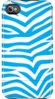 Blue Zebra iphone case  by Uncommon